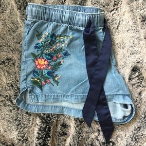 Old Navy Embroidered Sleep Shorts